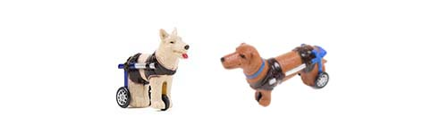 Dog Wheelchair Windup Toy